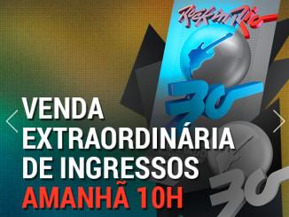 Quem ainda não tem ingresso para o Rock in Rio terá mais uma chance imperdível